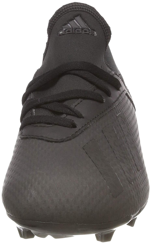 Black adidas X 18.3 Firm Ground Junior Football Boots