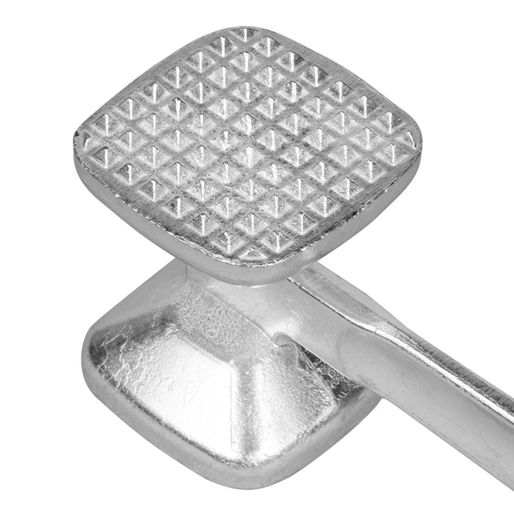 Happy Hours Pro Powerful 2-in-1 Solid Cast Heavy-duty Aluminum Alloy Double-Sided Commercial Grade Food Safe Meat Tenderizer Mallet Hammer, Size XL 25.5cm 6.5cm 6.5cm by Happy Hours® (Image #9)