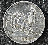 Silver Italian coin of 2 LIRE 1916%2C RO