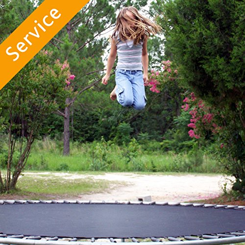 Outdoor Trampoline Assembly – With Enclosure