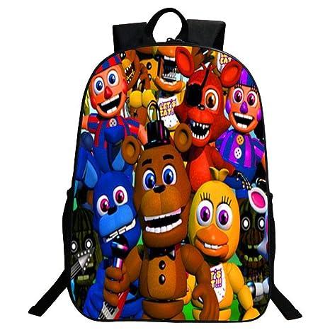 Mochila Escolar para Niños Anime 3D Five Nights At Freddy ...