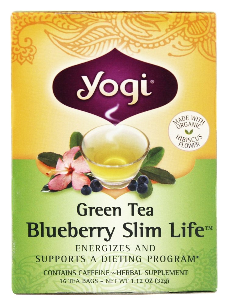 Health Shopping Yogi Tea, Green Tea Blueberry Slim Life, 16 Count