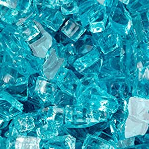 FireCrystals Aquamarine 1/4 in. Tempered Fire Glass