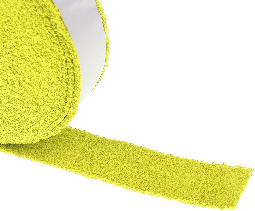 Desconocido Cinta De Agarre Toalla para El Tenis De Squash Raqueta De B/ádminton Raqueta Grip Amarillo