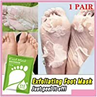 Brilliaire BabySkin Ultimate Foot Peeling Mask - Foot Peeling Mask Set - Exfoliating Foot Peel SPA Mask For Baby Soft Skin For Men & Women - Removes Dead Skin & Calluses In 7 Days (1 Pair)