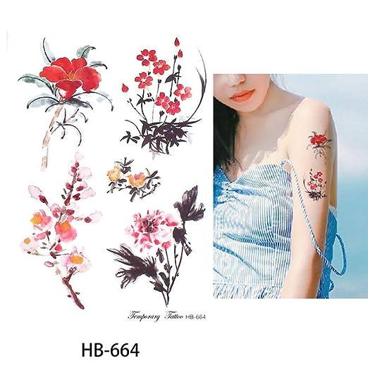 adgkitb Etiqueta engomada del Tatuaje Temporal 3pcs Gorrión HB-664 ...