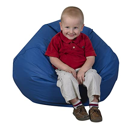 Amazing Childrens Factory 26 Round Bean Bag Blue Classroom Furniture Cf610 001 Alphanode Cool Chair Designs And Ideas Alphanodeonline