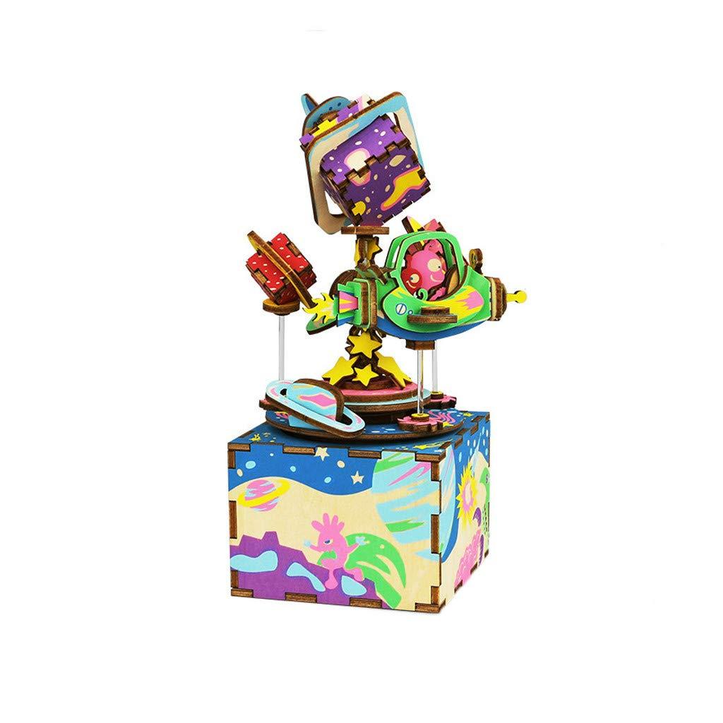 【お得】 Yliquor C 1 かわいいDIY 3Dロボット木製パズルゲームアセンブリオルゴール バレンタインデープレゼント ロマンチックなギフト 1 Yliquor B07MPWQXLZ C, U&JMac's:a99135af --- arcego.dominiotemporario.com