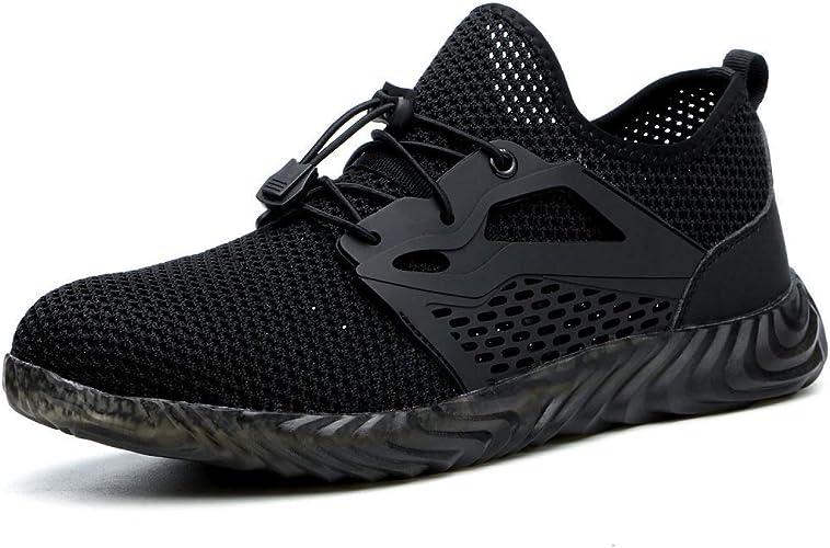 Amazon.com: SUADEX Zapatos de acero para hombre y mujer ...
