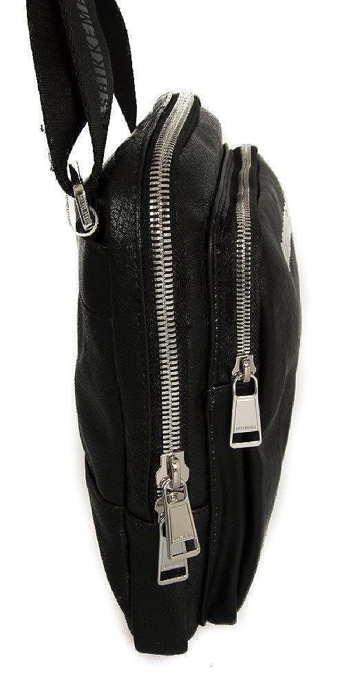 Man bag with shoulder strap BIKKEMBERGS item 7BDD6611 DB-NEXT FLAT CROSSOVER