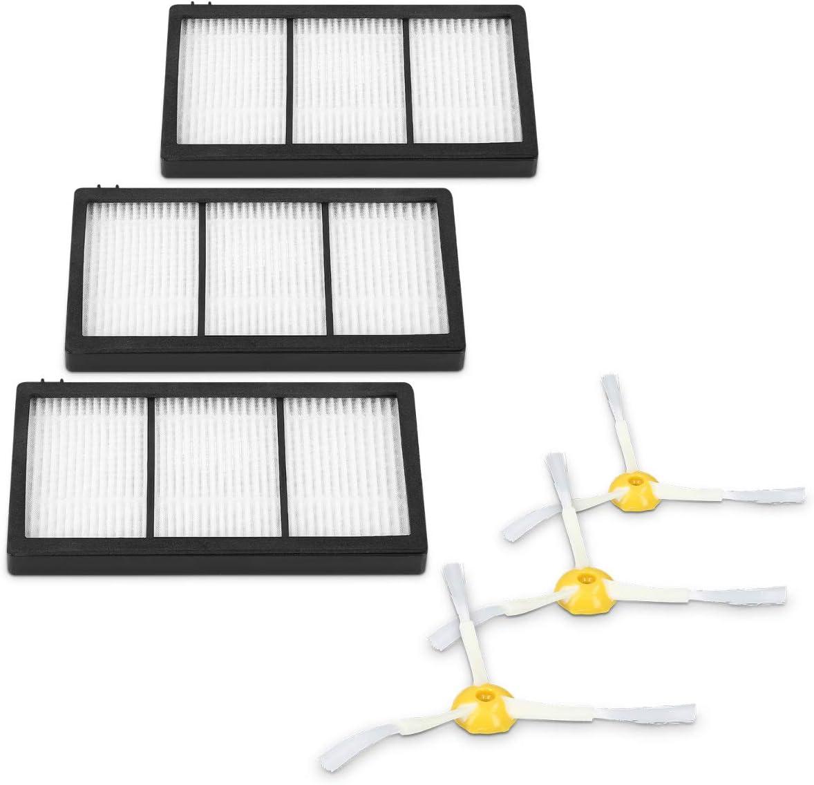 kwmobile Set de 3 cepillos Laterales y 3 filtros de Repuesto ...