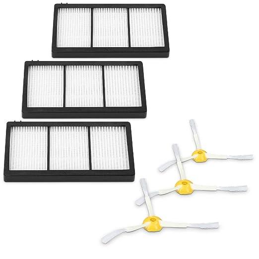 kwmobile Set de 3 cepillos Laterales y 3 filtros de Repuesto para ...