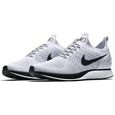 separation shoes 11d34 8f1bb Amazon.com   Nike Mens Air Zoom Mariah Flyknit Racer Running Shoes Silver  8.5 Medium (D)   Road Running