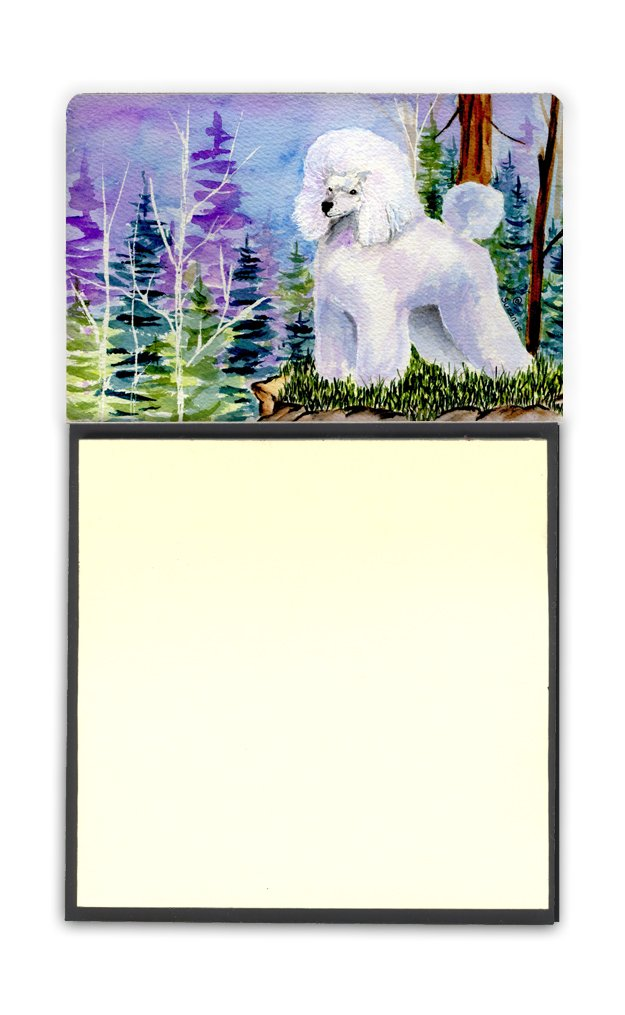 Caroline's Treasures SS8639SN Poodle Vibrant Refillable Sticky Note Holder or Postit Note Dispenser, 3.25 by 5.5'', Multicolor by Caroline's Treasures