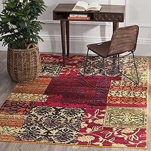 Safavieh alfombra polipropileno multicolor 154 x 231 cm - Alfombras comedor amazon ...