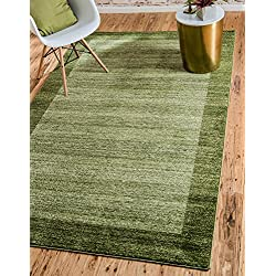 Unique Loom Del Mar Collection Contemporary Transitional Light Green Area Rug (5' x 8')