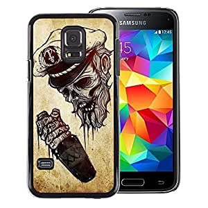 Red-Dwarf Colour Printing Captain Skull Seaman Death Drunk Sailor - cáscara Funda Case Caso de plástico para Samsung Galaxy S5 Mini, SM-G800, NOT S5 REGULAR!