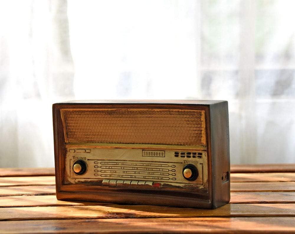Radio Retro Antique Imitation Radio Mod/èle R/ésine Nostalgie FM Ornements Artisanat Bar D/écor /À La Maison Cadeaux Artisanat