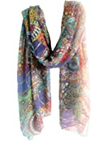 Demarkt® Fashion Foulard Echarpe - Chiffon Soie pour Femme/Fille - Couleur Bleu Marine
