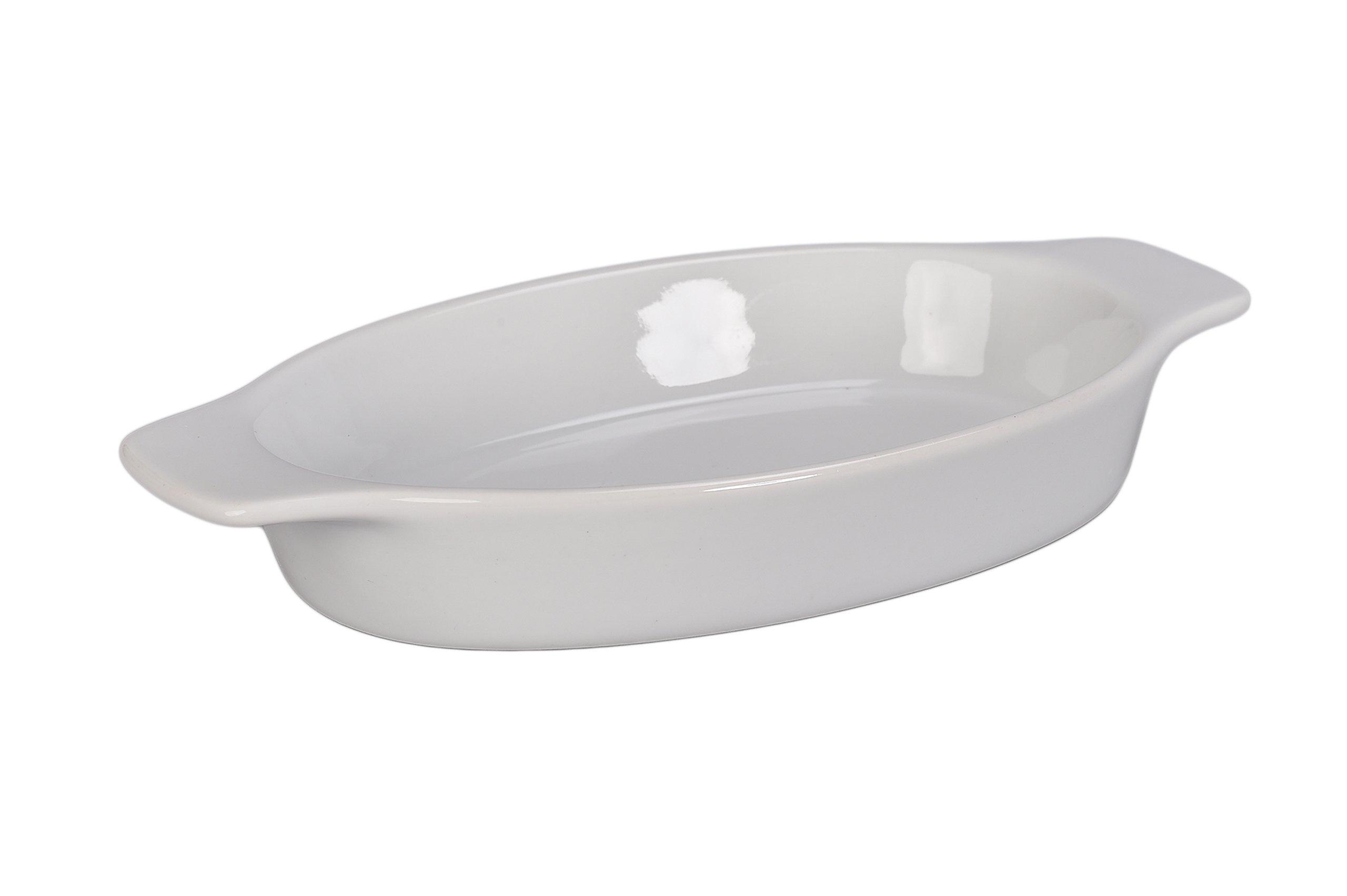 BIA Cordon Bleu 904998S4SIOC Au Gratin Porcelain Baking Dish, Large, White
