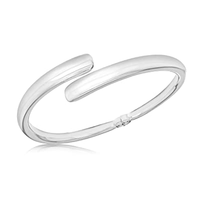 Tuscany Silver Sterling Silver Crossover Torque Bangle bAPXMlSyD