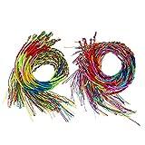 40 Pieces 2 Styles Colorful Handmade Braided Thread Friendship Bracelets Wrist Ankle Bracelets