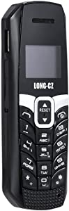 Long CZ T3 Smallest Long Standby Mini Tiny Mobile Cell Phone Bluetooth Dialer 0.66 inch MP3 SMS Voice Changer with Vibrate Function Beat The Boss (Black)