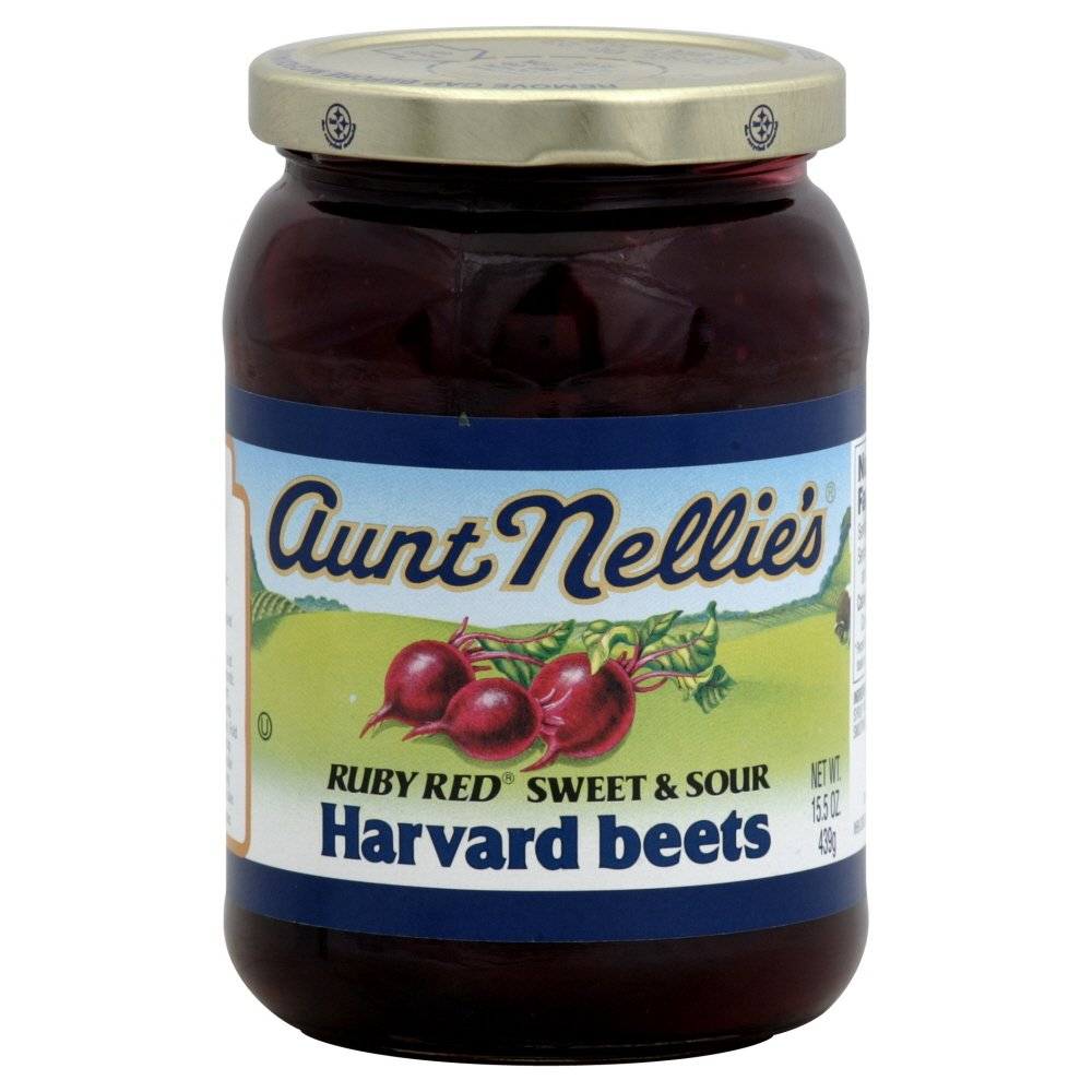 Aunt Nellie S Ruby Red Sweet Sour Harvard Beets 15 5 Oz Amazon Com Grocery Gourmet Food