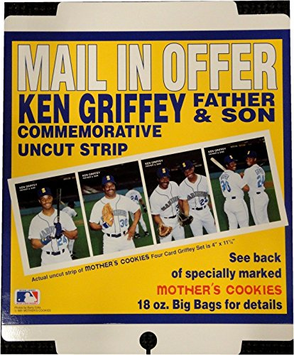 Ken Griffey Father And Son Jr Original Mothers Cookies Ad...