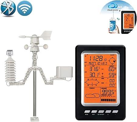 SanyaoDU Inteligente Estación meteorológica Solar, Soporte de Aplicaciones Móviles, Agricultura, Jardín, Balcón, Inicio: Amazon.es: Hogar