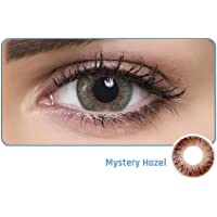 Aqua Color Daily Disposable Color Contact Lens (10 Lens/Box/Plano) (Mystery Hazel, 0.00)