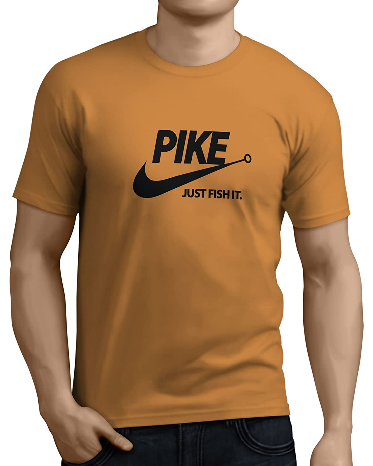 b9b2fff0 Pike Just Fish It Mens Funny Pike Fishing T-Shirt 14 Colors Sizes Small to  XX-Large by Total-tees.: Amazon.co.uk: Clothing