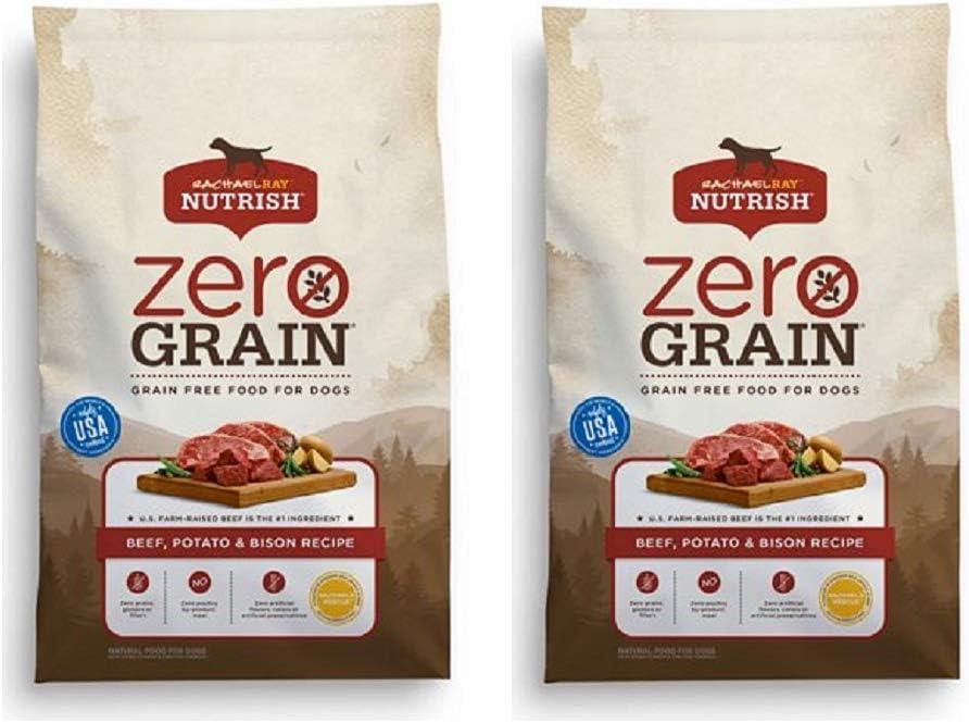 Rachael Ray Nutrish Zero Grain Natural Grain Free Dry Dog Food (2 Pack, Beef, Potato & Bison)