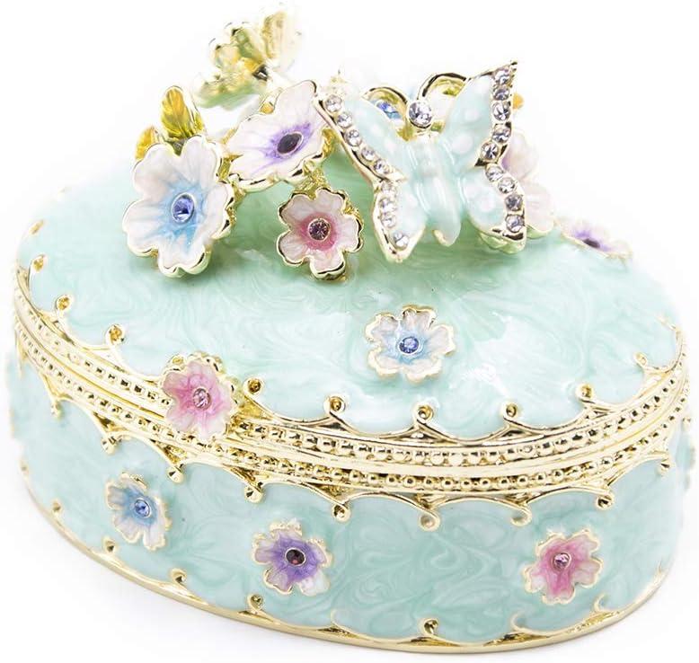 Storage Box Trinket Box Frozen Lavender and Blue Ice Resin Coffin Box Trinket Tray Jewelry Dish