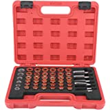 ENET 21 Pcs Oil Drain Plug Key Removal Tool Set 21pc 3//8 Sq Drive
