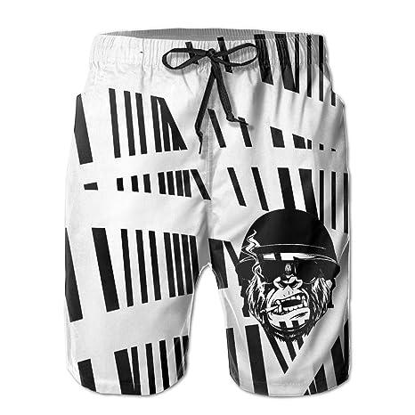 9360cd1d69 Amazon.com : Badass Monkey Unisex Beach Surf Boardshorts With Pocket :  Sports & Outdoors