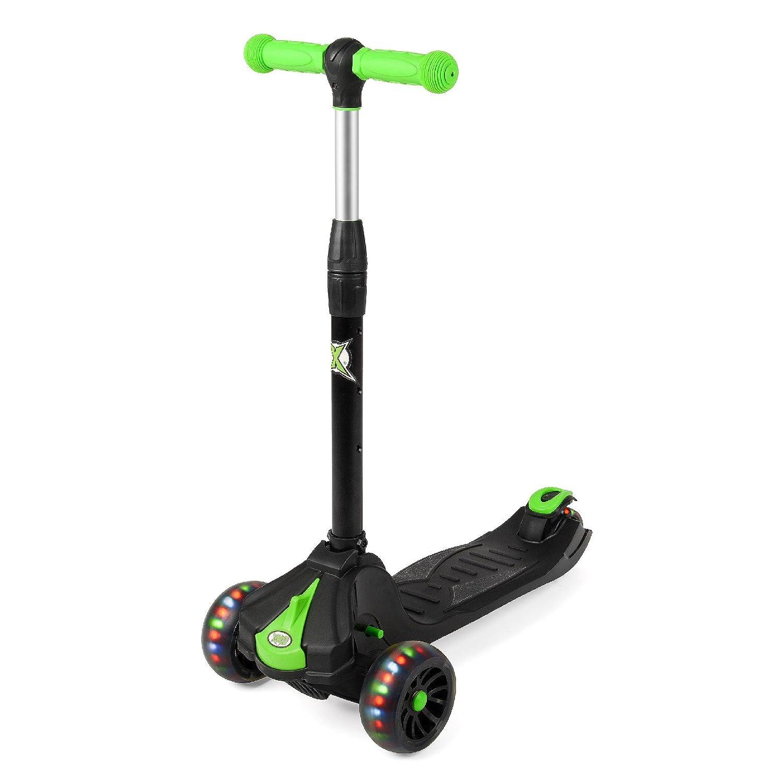 Xootz LED-Rad Tri Scooter mit Verstellbarer Lenker, Lenker, Lenker, schwarz 185c94