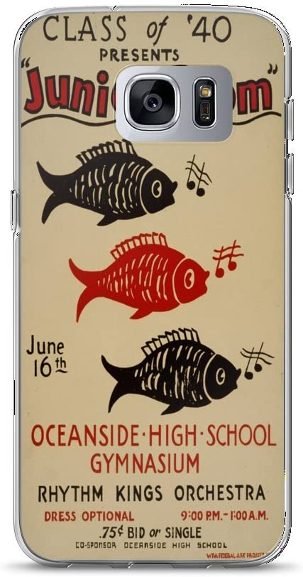 Amazon Com Vintage Poster Junior Prom 1454 Samsung Galaxy S7 Edge Phone Case