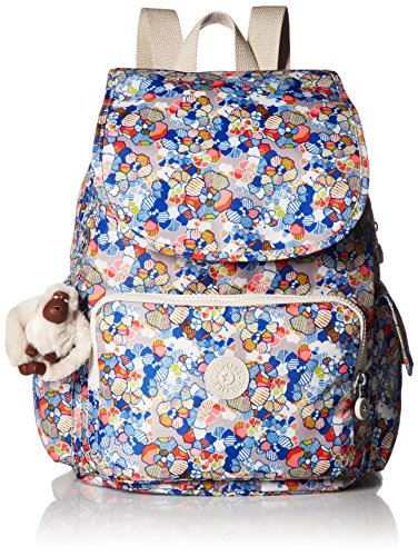 Kipling Women's Ravier Medium Solid Backpack, Funny Fields by Kipling