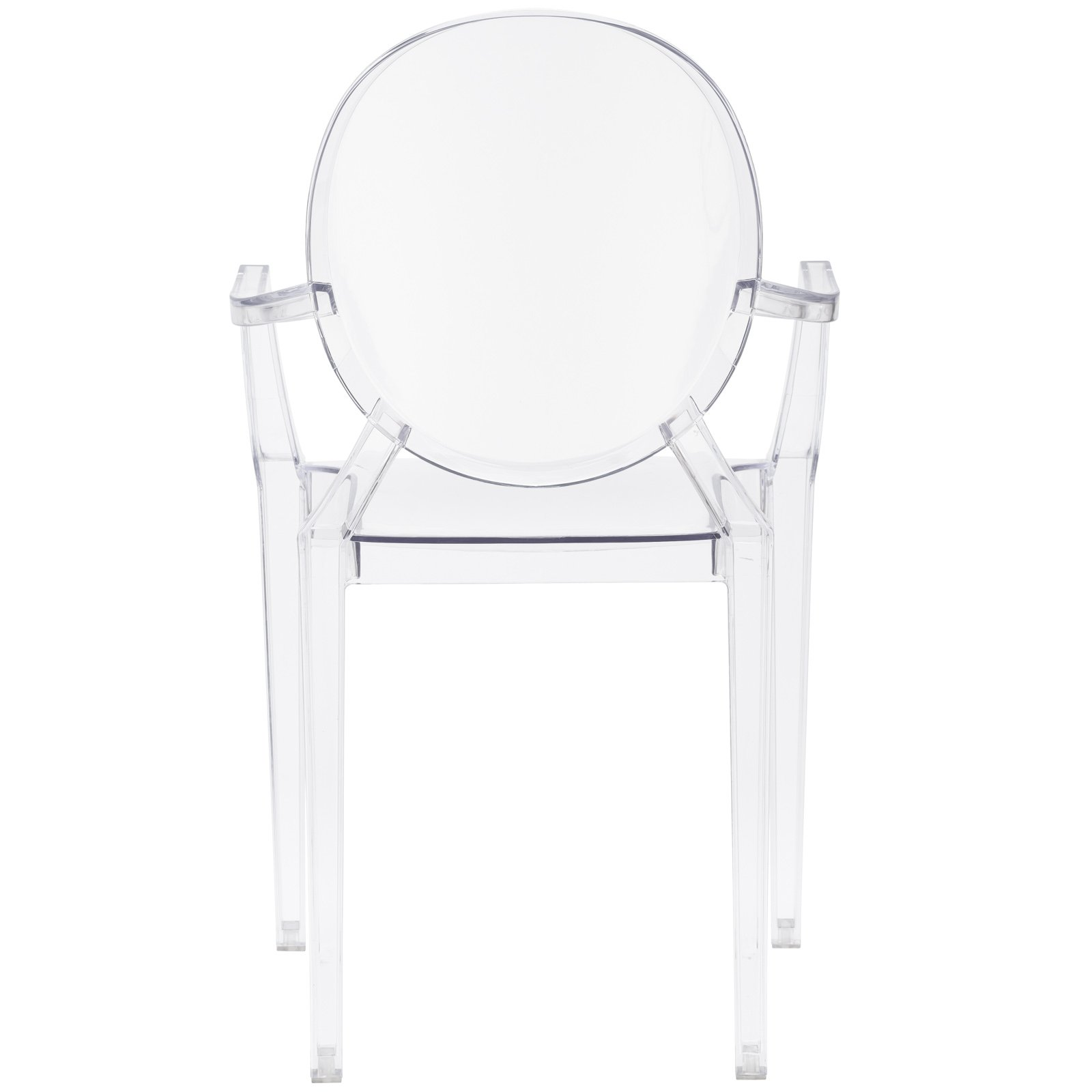 Poly and Bark Burton Arm Chair in Clear (Set of 4) by POLY & BARK (Image #5)