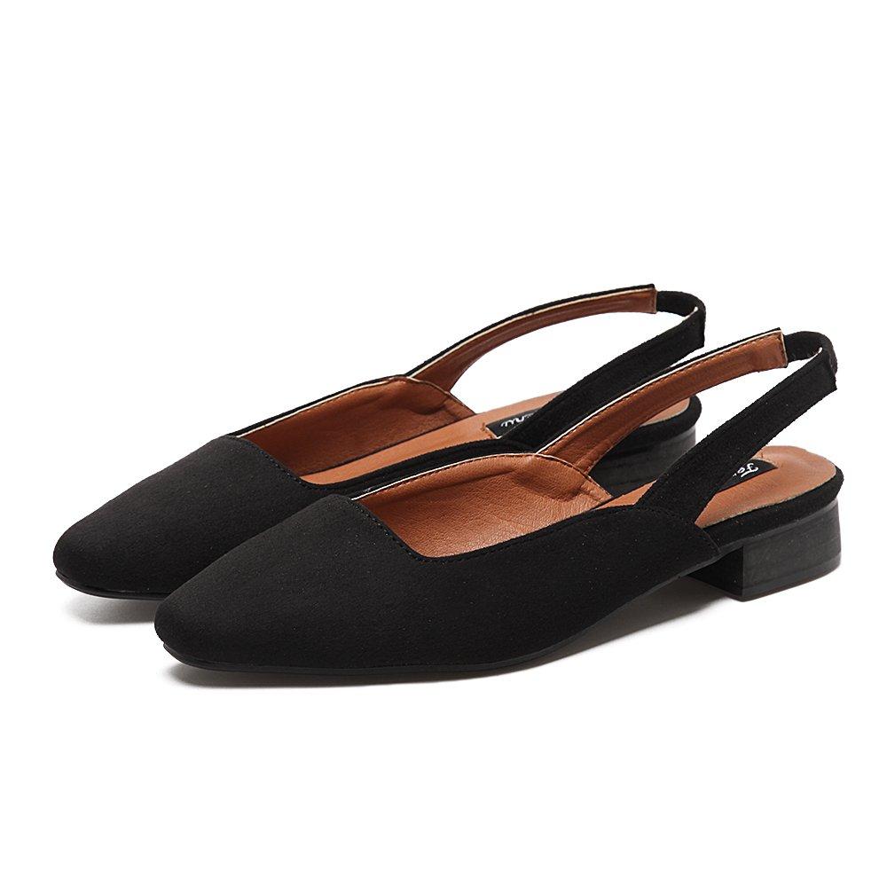 Xue Qiqi One-Strap Satin Sandalen mit Dicken mit Niedrigen Einzelnen Schuhe Frau Hohl Leer Baotou Frauen Schuhe