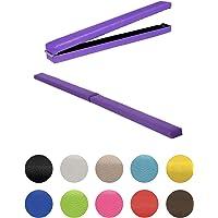 Fun!ture Purple Faux Leather Folding Gymnastics Training Balance Beam