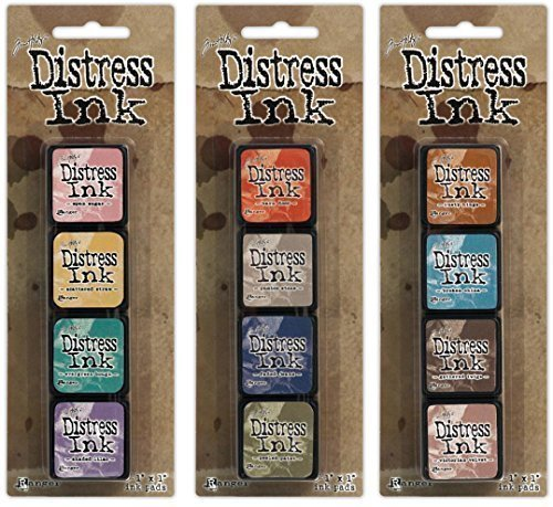 Ranger Tim Holtz Distress Mini Ink Pad Kits #4, #5 and #6 Bundle ()