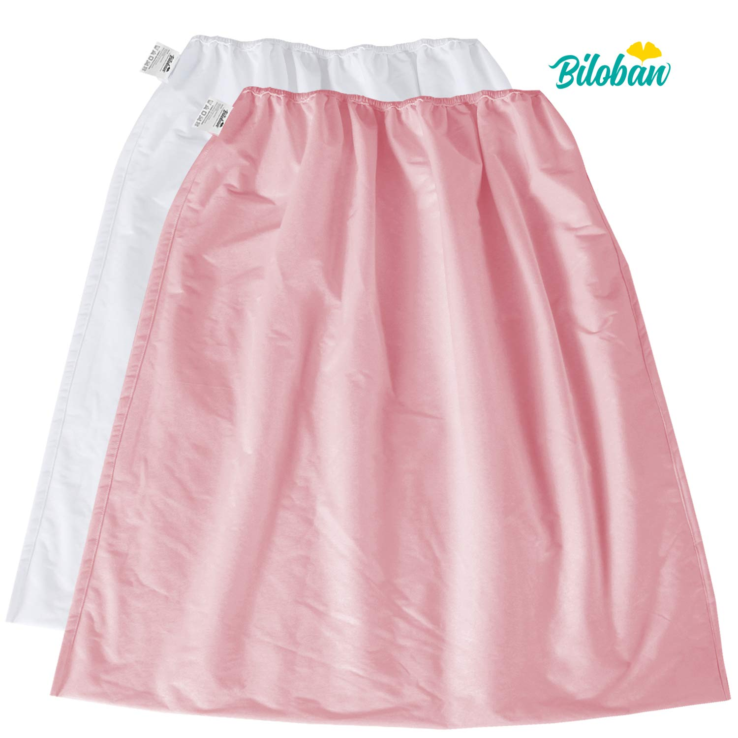 Diaper Pail Wet Bags 2 Pack, Water-Resistant Washable Diaper Pail Liner for Cloth Diaper, Laundry Garbage Trash Can Travel, White + Pink by Biloban