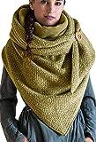 JFAN 2020 Bufandas para Mujer Señora Calentito Suave Retro Elegante Color Sólido Bufandas de Invierno Mujer Bufanda…