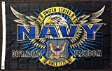 united 1st - 3x5 Mission First United States US Navy Defending Freedom Flag Military USN USA