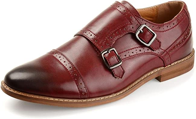 Vance Co. Mens Faux Leather Cap Toe