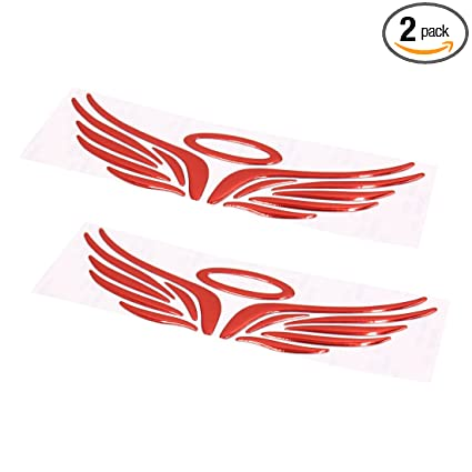 Amazon com: uxcell a17062300ux0787 2Pcs Red Angel Halo Wings