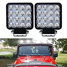 4In Pods Cube Led Work Light Fog Lights Backup Reverse Drl Running Spot Lights On Front Rear Bumper For Truck 4Wheeler Honda Pioneer Boat Motorhome Motorcycle Pickup Side By Side Tractor Trailers
