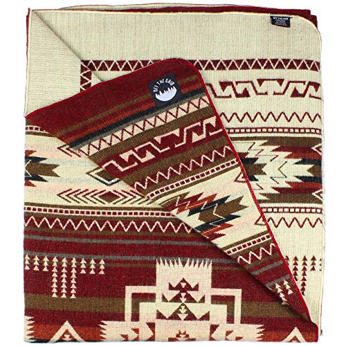 Inca Fuzzy Ecuadorian Blanket - Aztec/Mexican/Southwest Artisanal Style - Use As Fall Throw Blanket, Camp Blanket, or Fluffy Cover for Indoors and Outdoors